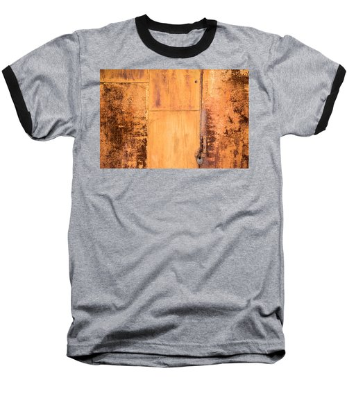 Baseball T-Shirt featuring the photograph Rust On Metal Texture by John Williams