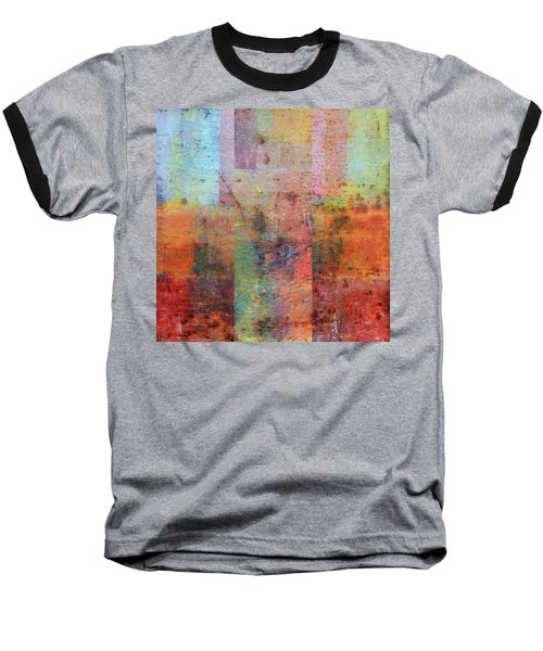 Baseball T-Shirt featuring the painting Rust Study 1.0 by Michelle Calkins