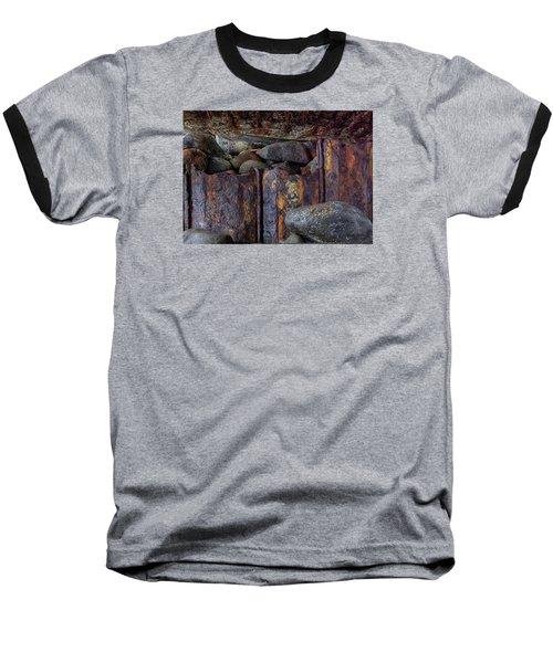 Rusted Stones 3 Baseball T-Shirt by Steve Siri