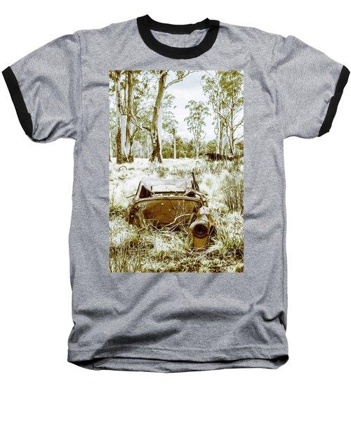 Rustic Australian Car Landscape Baseball T-Shirt