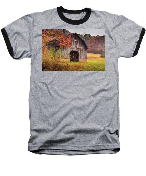 Rustic Barn In Autumn Baseball T-Shirt