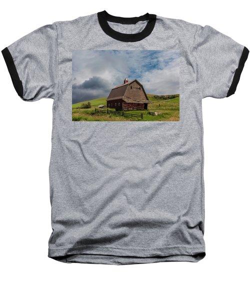 Rustic Barn Palouse Washington Baseball T-Shirt by James Hammond
