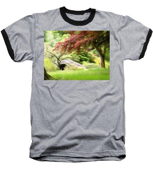 Rustic Bridge Baseball T-Shirt by Carol Crisafi