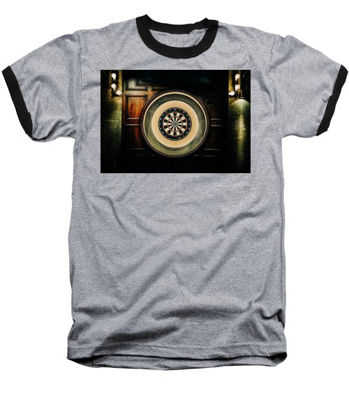 Rustic British Dartboard Baseball T-Shirt