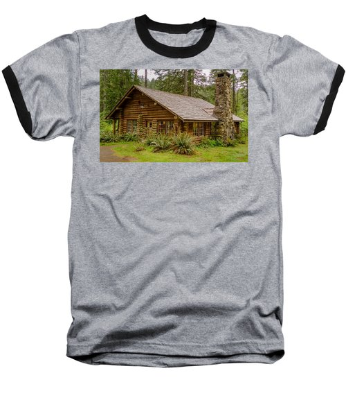 Baseball T-Shirt featuring the photograph Rustic Cabin by Jerry Cahill