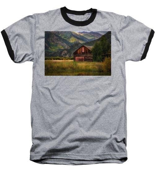 Rustic Colorado Barn Baseball T-Shirt