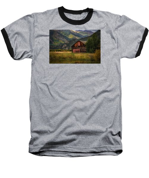 Rustic Colorado Barn Baseball T-Shirt