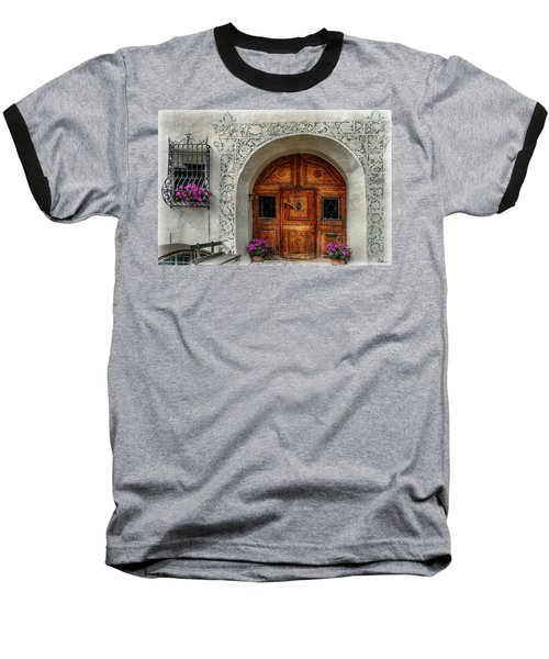 Rustic Front Door Baseball T-Shirt by Hanny Heim