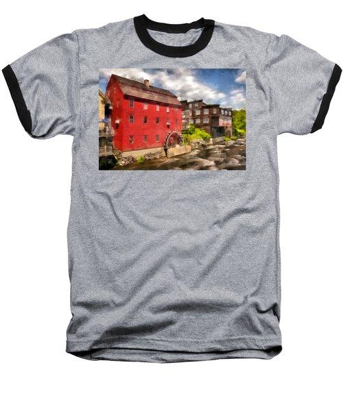 Rustic Historic Grist Mill Littleton, Nh Baseball T-Shirt