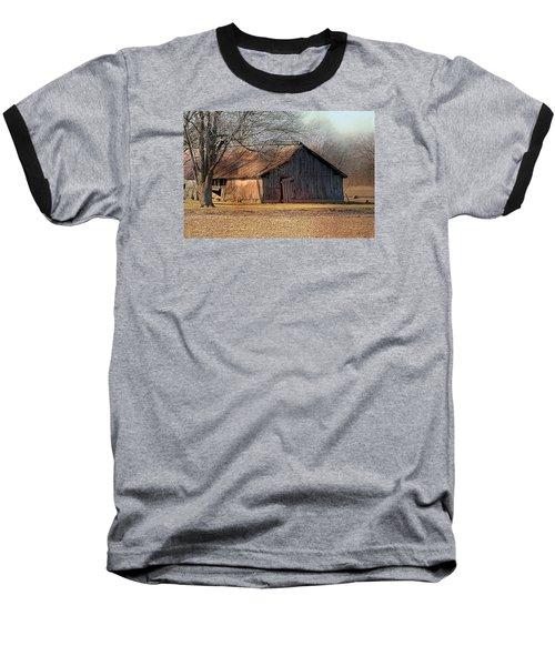 Rustic Midwest Barn Baseball T-Shirt