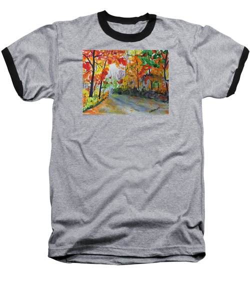 Baseball T-Shirt featuring the painting Rustic Road by Jack G  Brauer