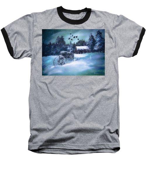 Rustic Winter Barn  Baseball T-Shirt