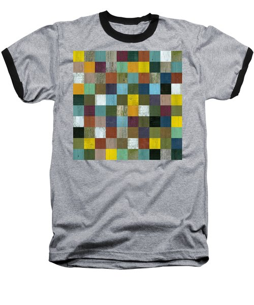 Rustic Wooden Abstract 100 Baseball T-Shirt