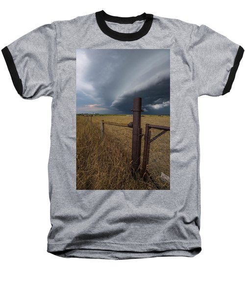 Baseball T-Shirt featuring the photograph Rusty Cage  by Aaron J Groen