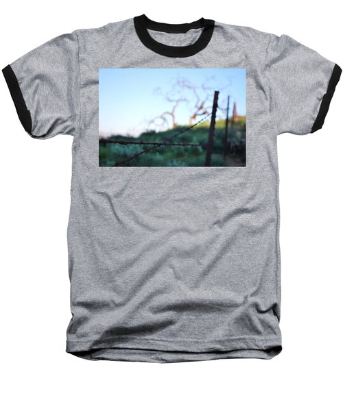 Baseball T-Shirt featuring the photograph Rusty Gate Rural Tree 2 by Matt Harang
