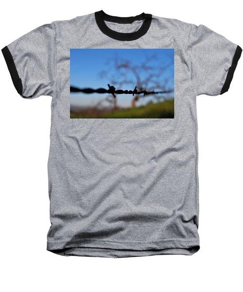 Baseball T-Shirt featuring the photograph Rusty Gate Rural Tree by Matt Harang