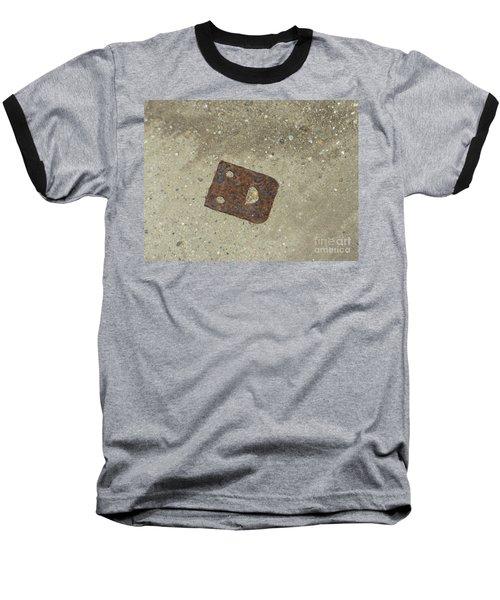 Rusty Metal Hinge Smiley Baseball T-Shirt