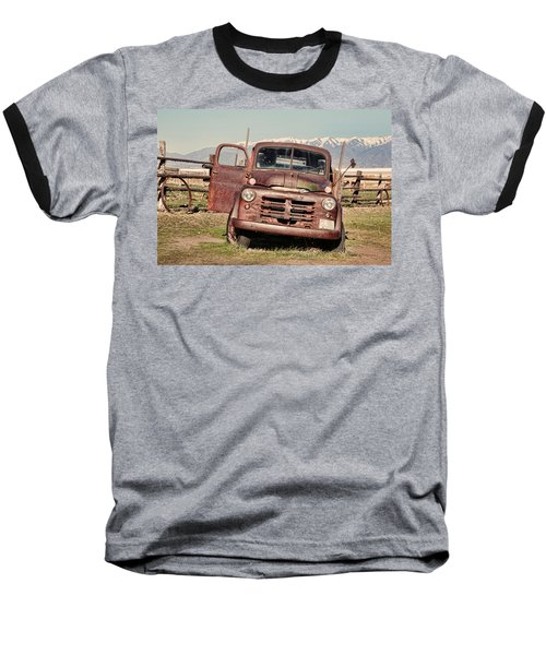 Baseball T-Shirt featuring the photograph Rusty Old Dodge by Ely Arsha