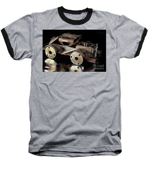 Baseball T-Shirt featuring the photograph Rusty Rat Rod Toy by Wilma Birdwell