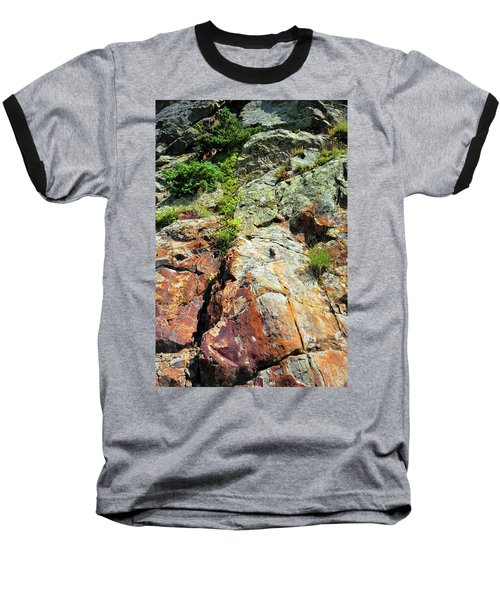 Rusty Rock Face Baseball T-Shirt