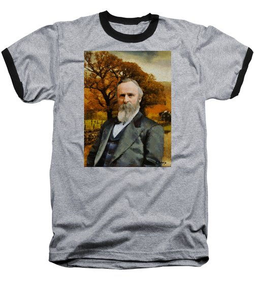 Rutherford B. Hayes Baseball T-Shirt by Kai Saarto