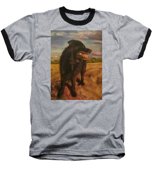 Baseball T-Shirt featuring the painting Ruudi by Cherise Foster