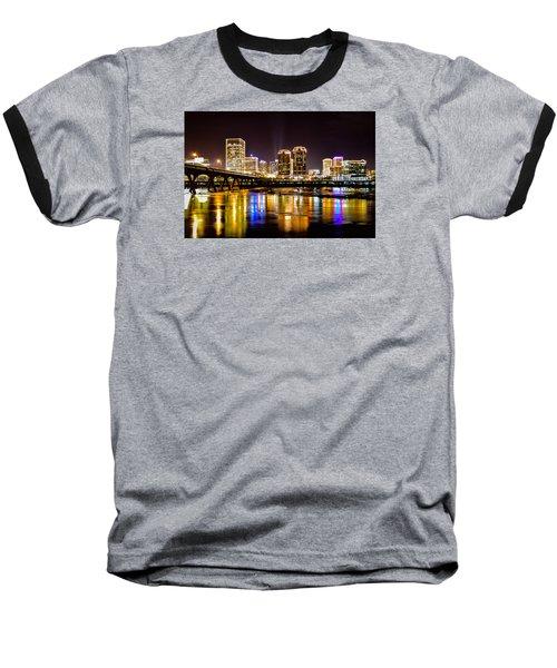 Rva Holiday Skyline 3 Baseball T-Shirt