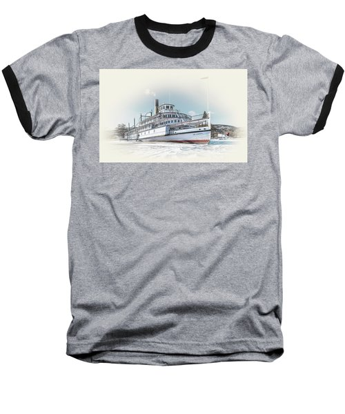 Baseball T-Shirt featuring the photograph S. S. Sicamous II by John Poon