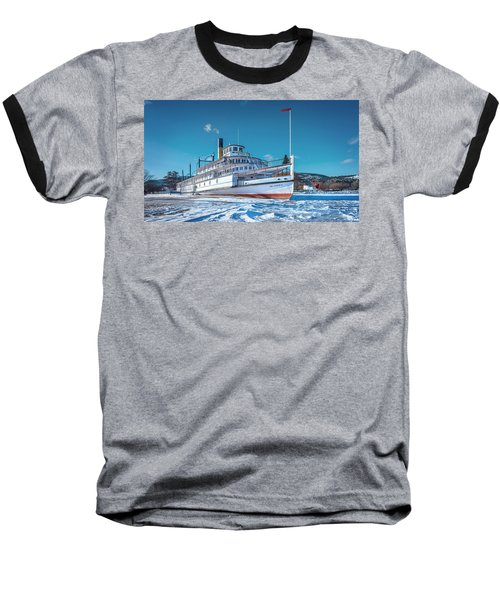 Baseball T-Shirt featuring the photograph S. S. Sicamous by John Poon