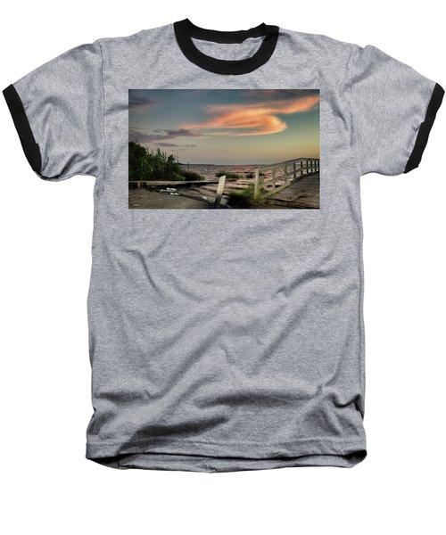 Time Is A River Baseball T-Shirt by Phil Mancuso