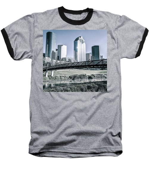 Sabine Promenade Over Buffalo Bayou Baseball T-Shirt