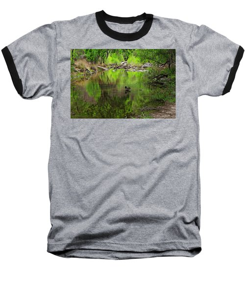 Baseball T-Shirt featuring the photograph Sabino Reflection Op53 by Mark Myhaver