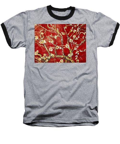 Sac Rouge Avec Fleurs D'almandiers Baseball T-Shirt