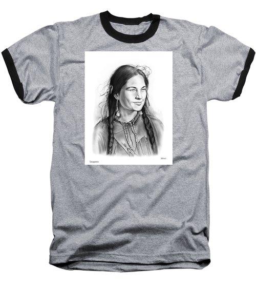 Sacagawea Baseball T-Shirt by Greg Joens