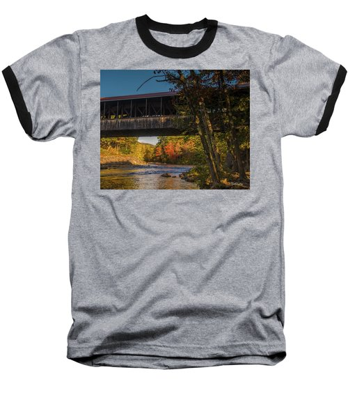 Saco River Covered Bridge Baseball T-Shirt
