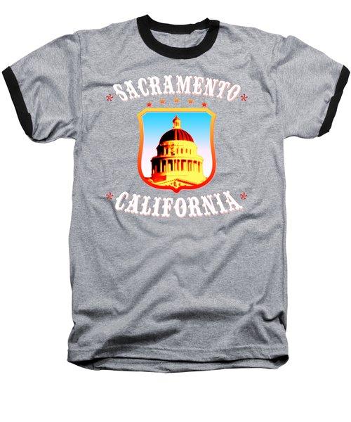 Sacramento California - Tshirt Design Baseball T-Shirt by Art America Gallery Peter Potter