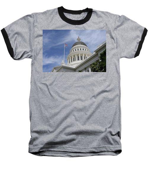 Sacramento Capitol Building Baseball T-Shirt