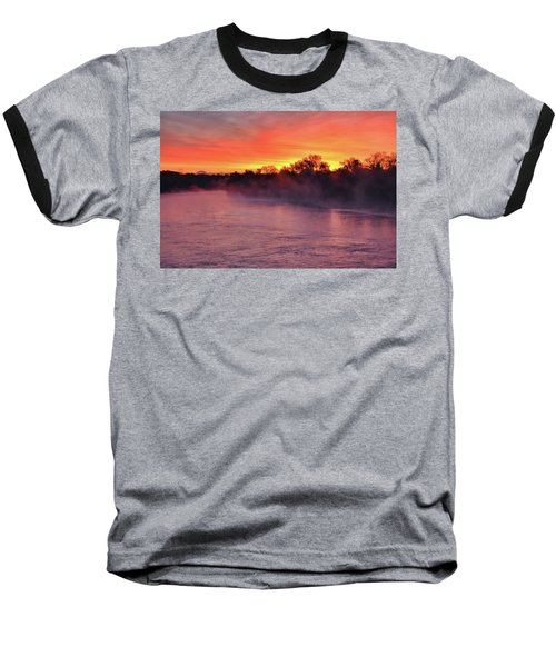 Sacramento River Sunrise Baseball T-Shirt