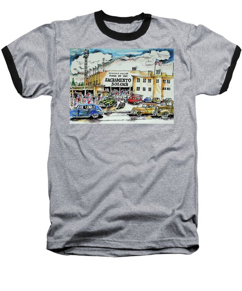 Baseball T-Shirt featuring the painting Sacramento Solons by Terry Banderas