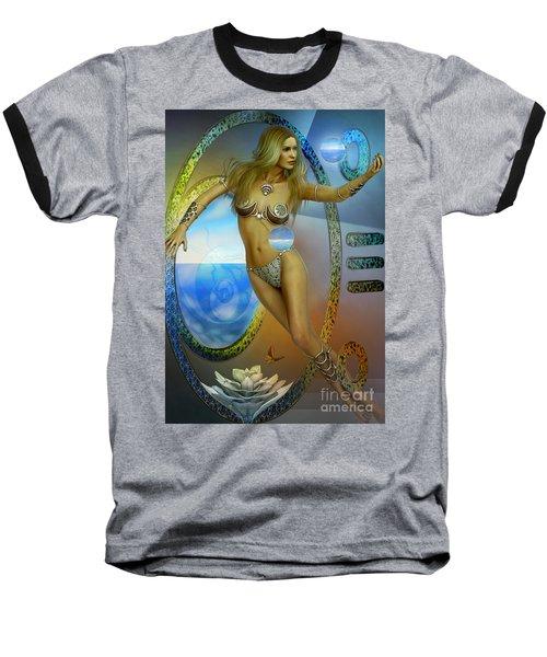 Baseball T-Shirt featuring the digital art Sacred Feminine by Shadowlea Is
