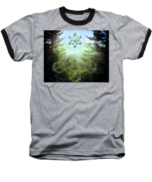 Sacred Forest Event Baseball T-Shirt by Milton Thompson
