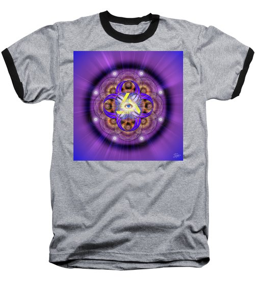 Sacred Geometry 639 Baseball T-Shirt by Endre Balogh