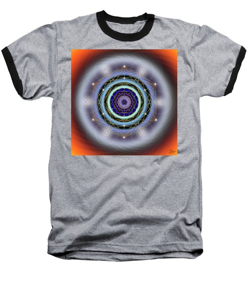 Sacred Geometry 640 Baseball T-Shirt by Endre Balogh