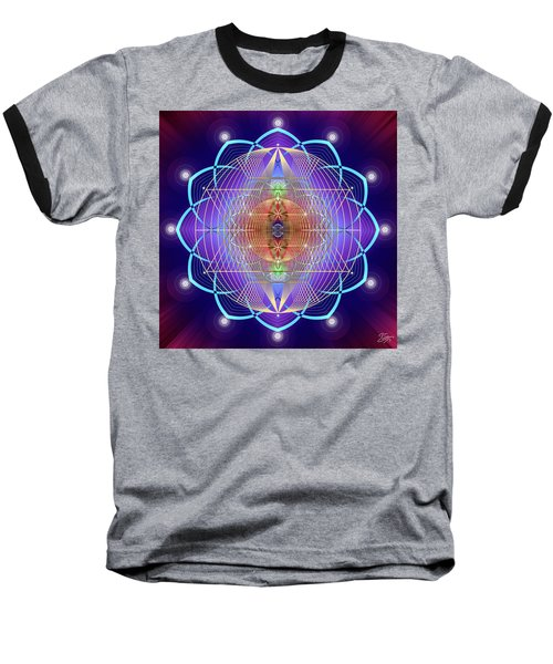 Sacred Geometry 641 Baseball T-Shirt by Endre Balogh