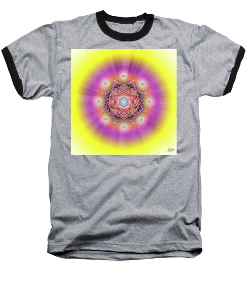 Sacred Geometry 643 Baseball T-Shirt by Endre Balogh