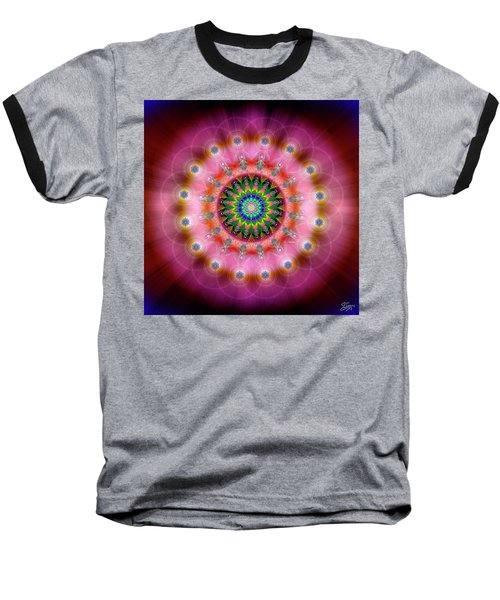 Sacred Geometry 644 Baseball T-Shirt by Endre Balogh
