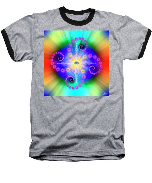 Sacred Geometry 653 Baseball T-Shirt