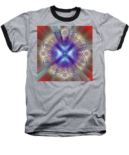 Sacred Geometry 656 Baseball T-Shirt