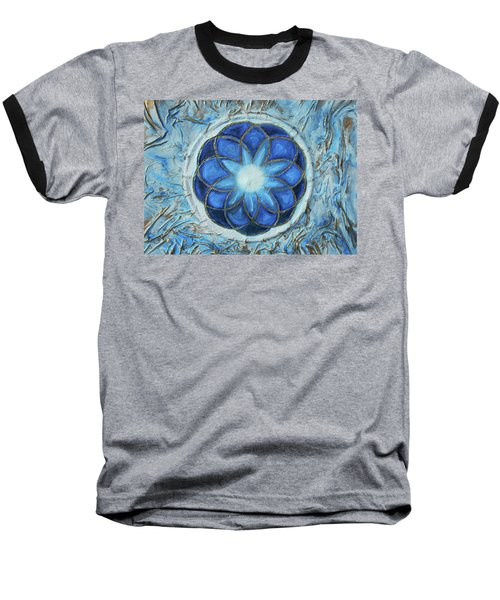 Baseball T-Shirt featuring the mixed media Sacred Geometry by Angela Stout