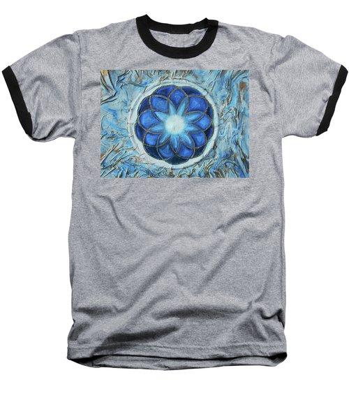 Sacred Geometry Baseball T-Shirt by Angela Stout